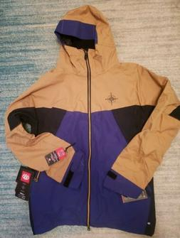 New 2016 686 Mens Forest Bailey Cosmic Snowboard Jacket Larg