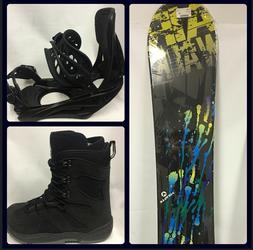 NEW Beginner-Intermediate Snowboard Package 150cm add Bindin
