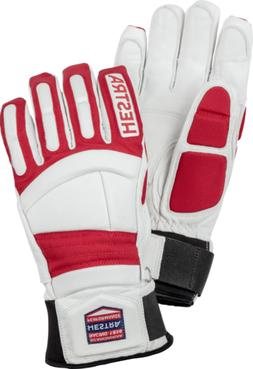 NEW HESTRA IMPACT RACING SR GLOVES White/Red Size 7-8-9-10