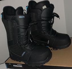 New Burton Invader Snowboard Boots Size 7.5 NIB Black