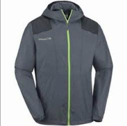 NEW Columbia Men's Large Grey / Lime Green Flashback Windbre