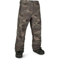 NEW VOLCOM Mens Snowboard L GORE-TEX PANT Camouflage- MEDIUM