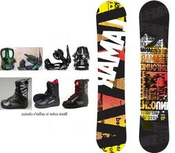 "NEW LAMAR ""VIPER"" SNOWBOARD, BINDINGS, BOOTS PACKAGE - 159cm"