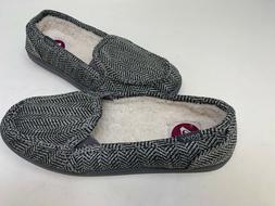 NEW! Roxy Women's Lido Wool Fur Lined Slip On Flats Grey/Bla