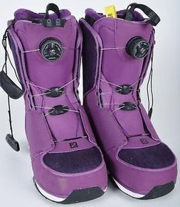 NWOB WOMENS SALOMON IVY BOA SJ SNOWBOARD BOOTS $250 9 Deep P