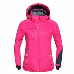 Phibee Outdoor Women's Waterproof Winter Ski Jacket - Pink -