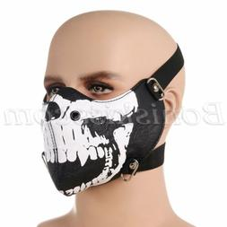 Punk Seal Skull Half Face Mask Ski Neck Snowboard Motorcycle