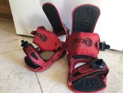 Forum Red snowboard bindings