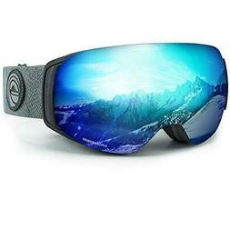 WildHorn Outfitters Roca Ski/Snowboard Goggles Stealth/Ice B