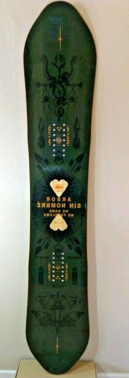 Arbor Sin Nombre' Camber Snowboard 154cm 2016/2017 New