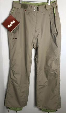 FOURSQUARE Size XL Snowboard Pants Insulated Khaki Tan NEW N