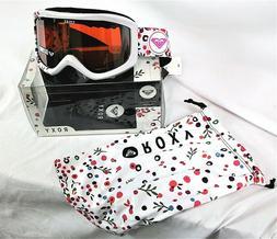 ROXY SKI / SNOWBOARD GOGGLES WHITE Sunset Art Series w/Micro
