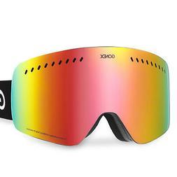 Skiing Goggles Ski Snowboard Glasses Double Lens Anti-Fog UV