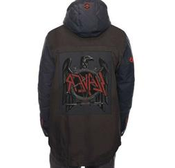 SLAYER 686 INSULATED SNOWBOARD JACKET BLACK DENIM  LARGE BRA