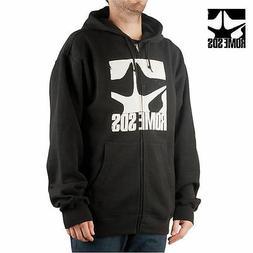 ROME SDS Snowboard Logo Full Zip Hoodie Black NEW NWT RT:$65