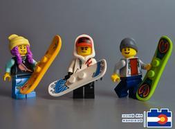 Lego Snowboard Minifigures Snow Board Mountain Winter Sports