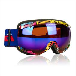 NENKI Snowboard Snowmobile Ski Goggles for Mens and Womens,D