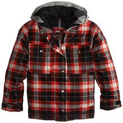 Burton Boy's Uproar Jacket, True Black Miked Plaid, Medium