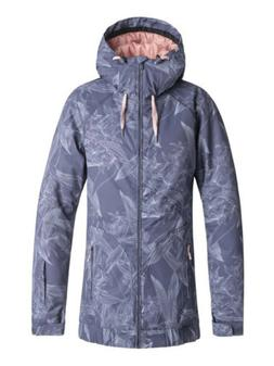 Roxy Valley Hoodie Crown Blue Washed Floral Womens Snowboard