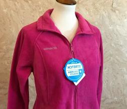 Columbia Women's Benton Springs Full Zip Top Fuchsia Pink Si