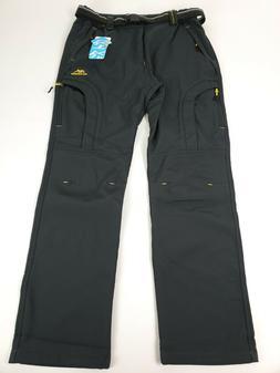 Magcomsen Women's Fleece Lined Softshell Pants Winter Cargo