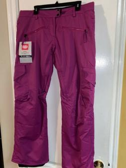 686 WOMEN'S MISTRESS INSULATED SKI SNOW CARGO PANT SIZE LARG