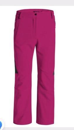 WANTDO Women's Ski Snowboard Pants Pink Fleece Lined Size La