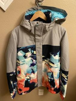 Roxy Womens Large Dryflight Snowboard Ski Hooded Coat Jacket