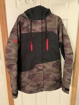 686 Woodland/Black/Red Mens Snowboard Jacket - Size Large